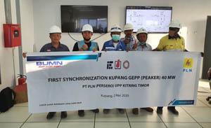 Sinkronisasi PLTMG Kupang Peaker 40 Mw/Foto: PLN
